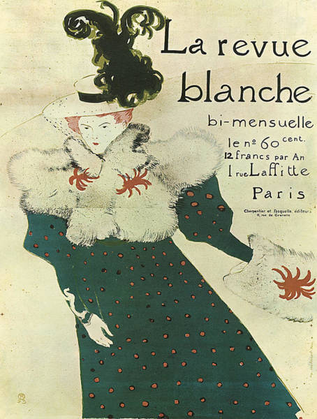 Screenprinting Painting - Vintage Poster - La Revue Blanche by Vintage Images
