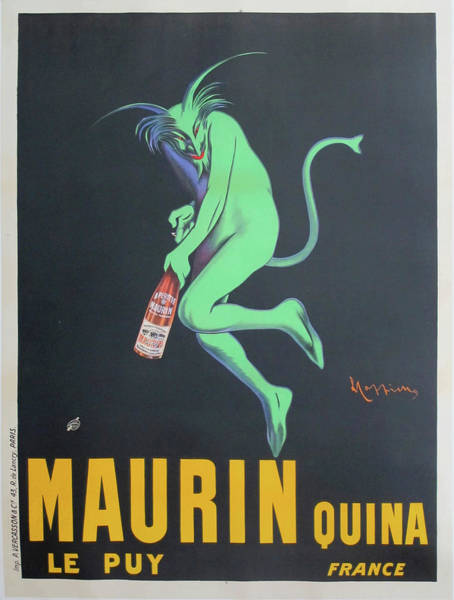 Screenprinting Painting - Vintage Poster - Maurin Quina by Vintage Images
