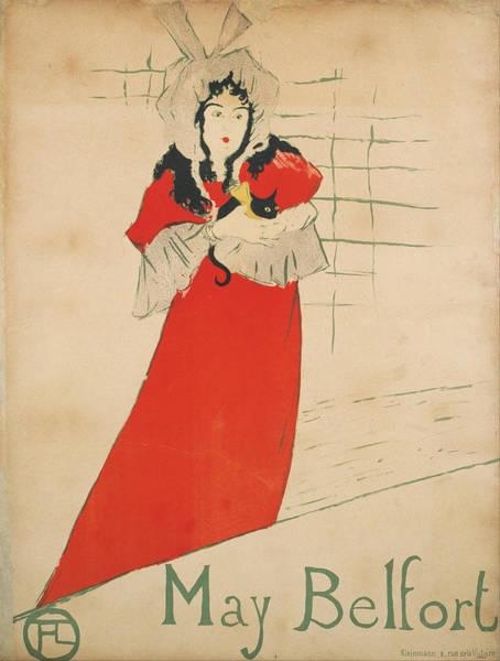 Screenprinting Painting - Vintage Poster - May Belfort by Vintage Images