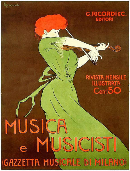 Screenprinting Painting - Vintage Poster - Musica E Musicisti by Vintage Images
