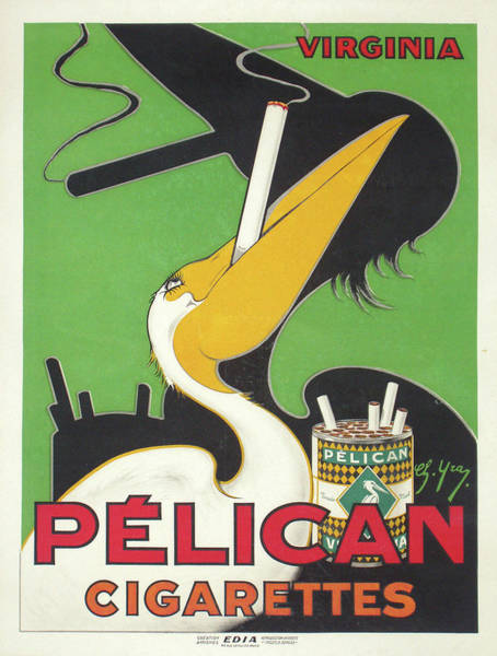 Screenprinting Painting - Vintage Poster - Pelican Cigarettes by Vintage Images
