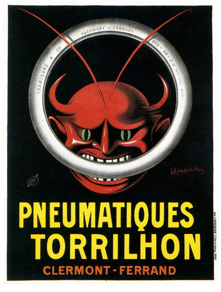 Screenprinting Painting - Vintage Poster - Pneumatiques Torrilhon by Vintage Images
