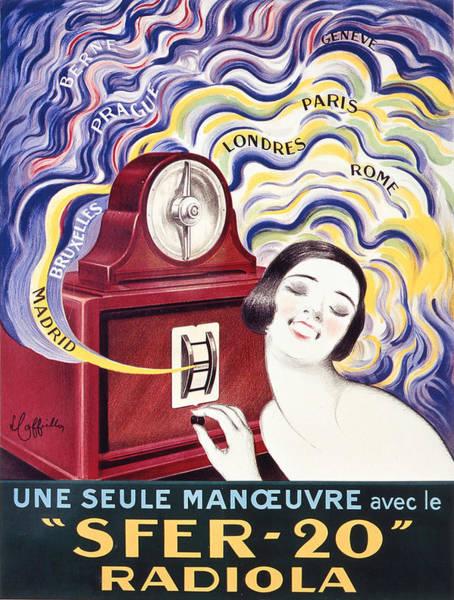 Screenprinting Painting - Vintage Poster - Radiola by Vintage Images