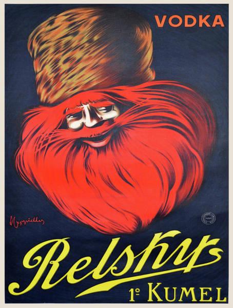 Screenprinting Painting - Vintage Poster - Relsky Vodka by Vintage Images
