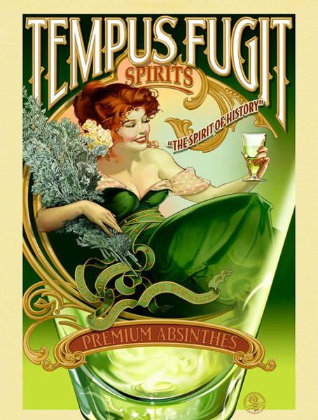 Screenprinting Painting - Vintage Poster - Tempus Fugit Absinthe by Vintage Images