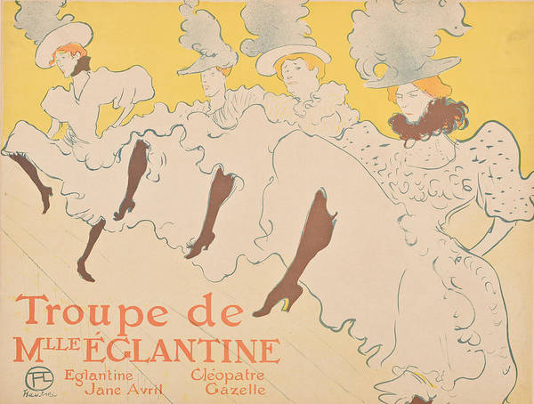 Screenprinting Painting - Vintage Poster - Troupe De Mlle Eglantine by Vintage Images