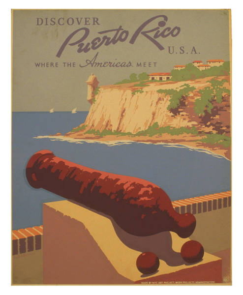 Wall Art - Photograph - Vintage Puerto Rico Travel Poster 2 by Ricky Barnard