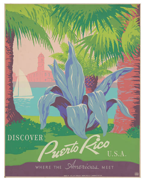 Wall Art - Photograph - Vintage Puerto Rico Travel Poster by Ricky Barnard