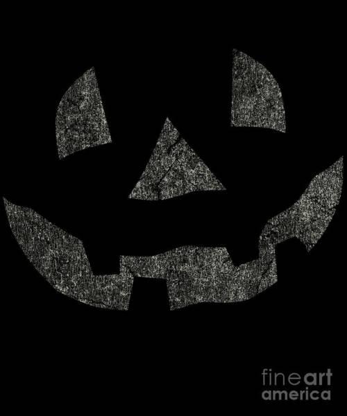 Digital Art - Vintage Pumpkin Face by Flippin Sweet Gear