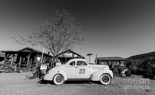 Wall Art - Photograph - Vintage Race Car Gold King Mine Ghost Town by Edward Fielding