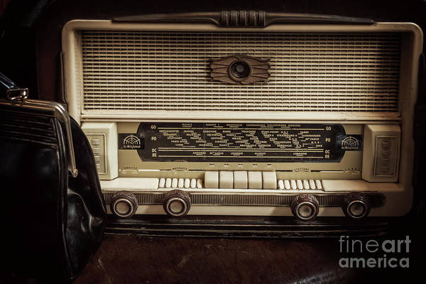 Broadcast Photograph - Vintage Radio by Delphimages Photo Creations