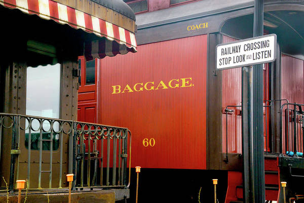 Wall Art - Photograph - Vintage Railroad Baggage Car by Paul W Faust - Impressions of Light