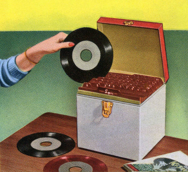 Archival Digital Art - Vintage Record Storage Case by Graphicaartis