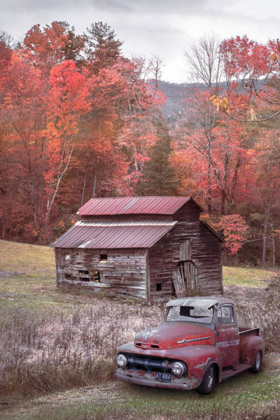 Photograph - Vintage Red Ford Country Colors by Debra and Dave Vanderlaan