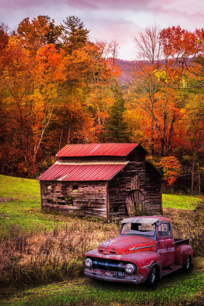 Photograph - Vintage Red Ford by Debra and Dave Vanderlaan