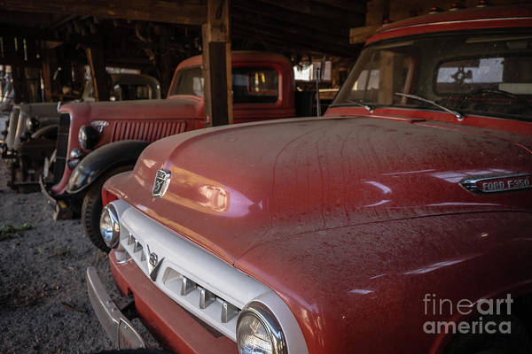 Wall Art - Photograph - Vintage Red Ford F350 Pickup Truck by Edward Fielding