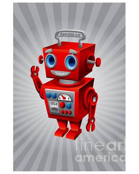 Wall Art - Digital Art - Vintage Robot by Scott Bartlett