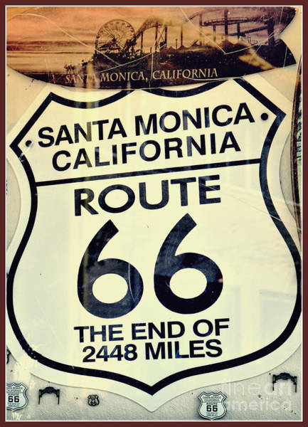 Wall Art - Photograph - Vintage Route 66 by Diann Fisher