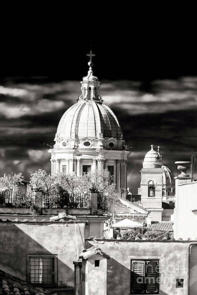 Photograph - Vintage San Carlo Al Corso View In Rome by John Rizzuto