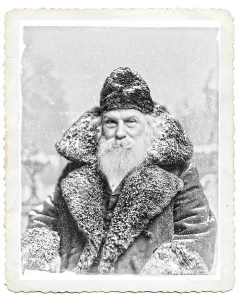 Vintage Santa Claus Deckled Art Print