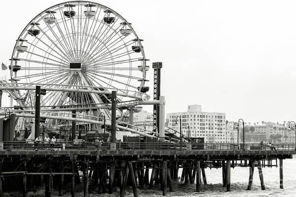 Santa Monica Pier Photograph - Vintage Santa Monica Pier Days by John Rizzuto