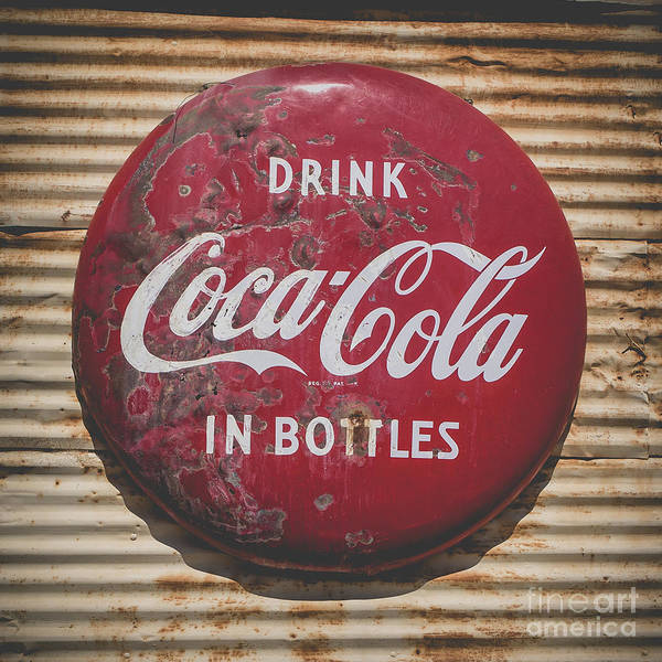 Wall Art - Photograph - Vintage Soft Drink Sign by Edward Fielding