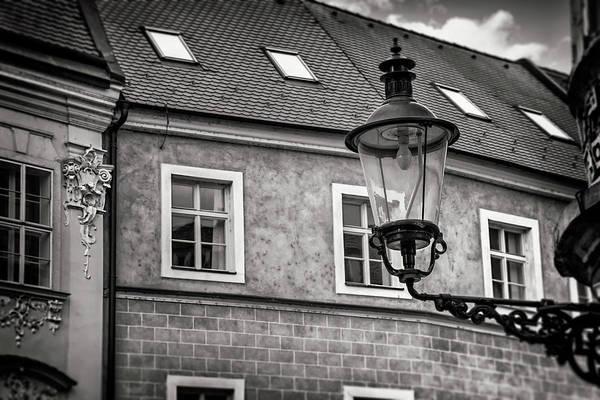 Bratislava Photograph - Vintage Street Lamp Bratislava Slovakia Black And White by Carol Japp