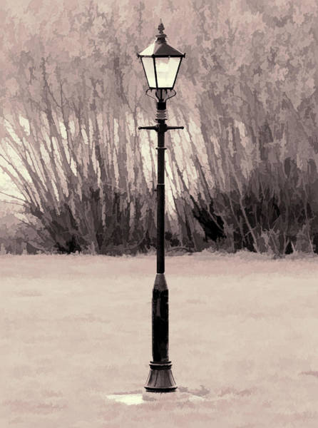 Digital Art - Vintage Street Lamp by Scott Lyons