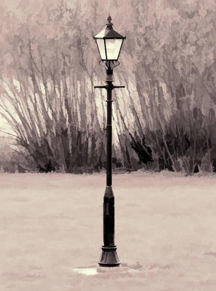 Digital Art - Vintage Street Lamp by Scott Lyons