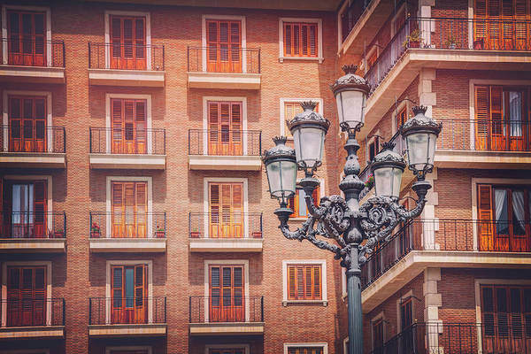 Wall Art - Photograph - Vintage Street Lamp Valencia Spain  by Carol Japp