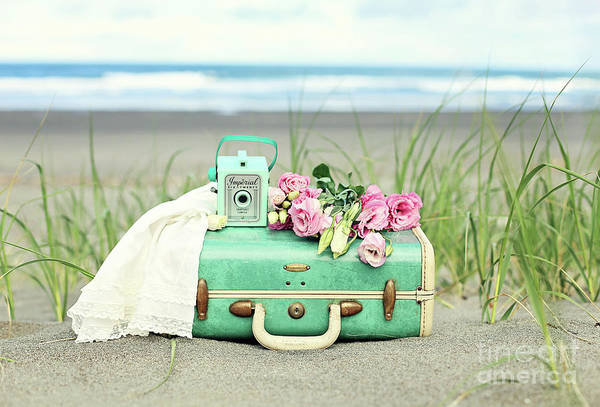 Wall Art - Photograph - Vintage Suitcase With Flowers by Sylvia Cook