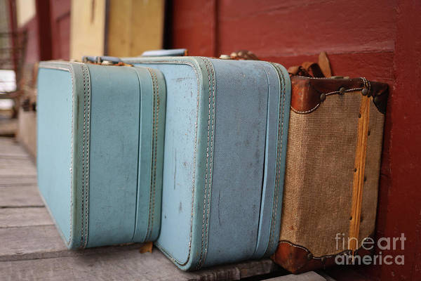 Wall Art - Photograph - Vintage Suitcases 2 by Edward Fielding