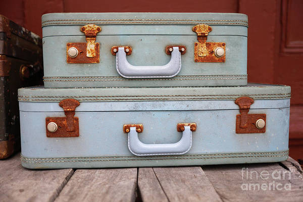 Wall Art - Photograph - Vintage Suitcases 3 by Edward Fielding