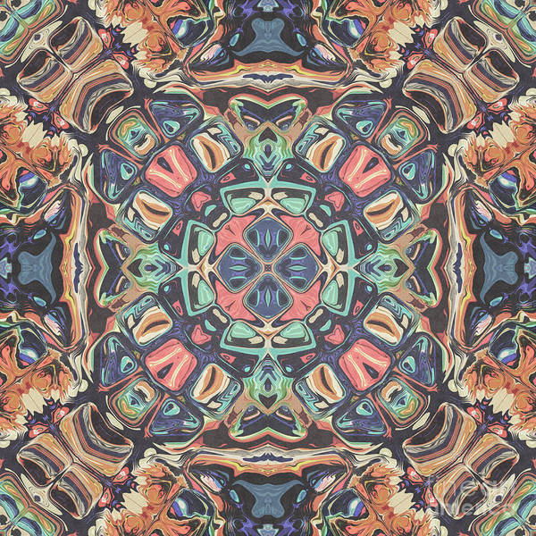 Digital Art - Vintage Symmetry Mandala by Phil Perkins