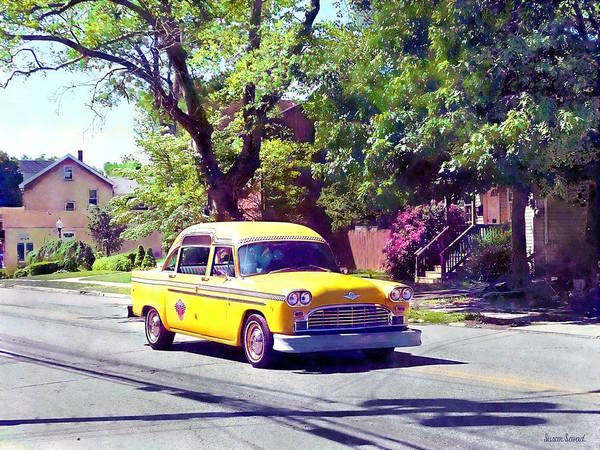 Photograph - Vintage Taxi by Susan Savad