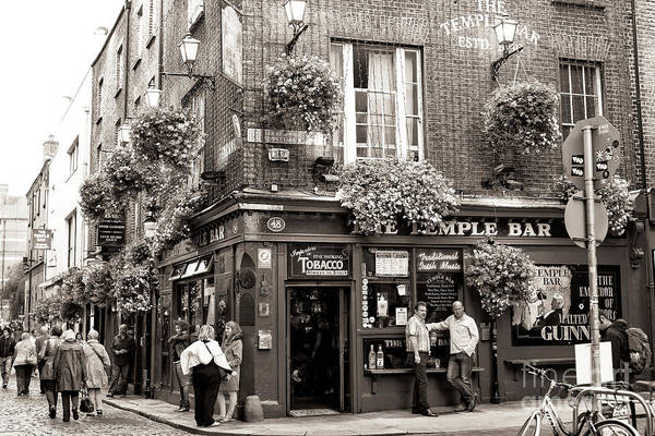 Wall Art - Photograph - Vintage Temple Bar Dublin by John Rizzuto