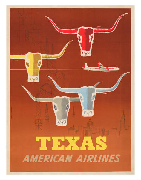 Wall Art - Photograph - Vintage Texas Aa Travel Poster by Ricky Barnard