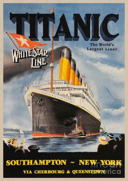 Wall Art - Photograph - Vintage Titanic Advertisment by Jon Neidert