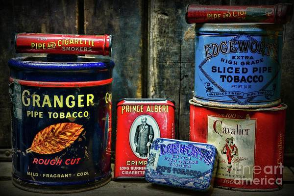 Vape Photograph - Vintage Tobacco Tins by Paul Ward
