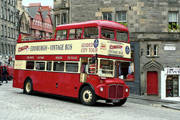 Autobus Photograph - Vintage Tour Bus by Fran West