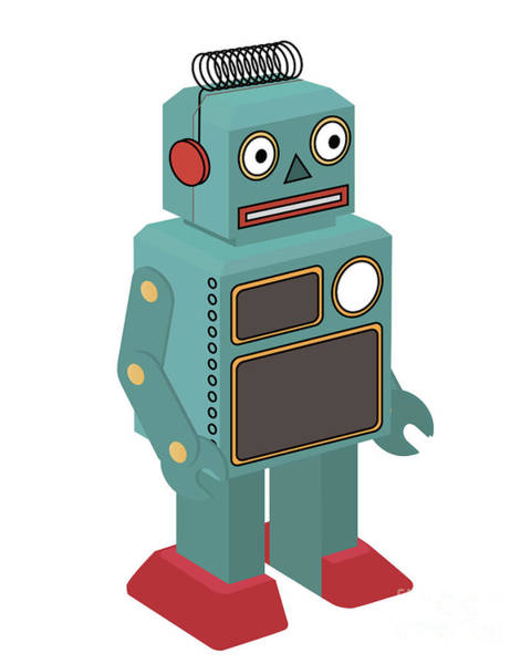 Wall Art - Digital Art - Vintage Toy Robot by Natt
