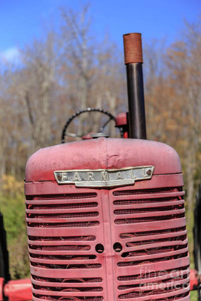 Photograph - Vintage Tractor Farmall Springfield New Hampshire by Edward Fielding