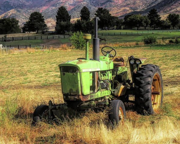 Photograph - Vintage Tractor In Honeyville by David King
