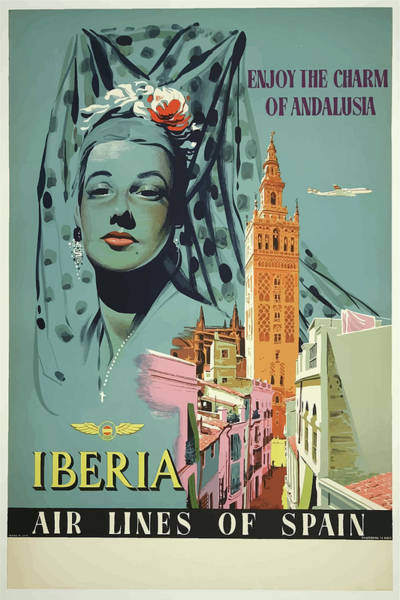 Mixed Media - Vintage Travel Poster Andalusia Spain by Movie Poster Prints