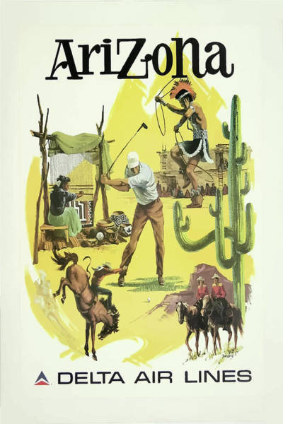 Mixed Media - Vintage Travel Poster Arizona 2 by Movie Poster Prints