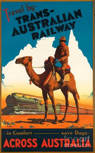 Wall Art - Painting - Vintage Travel Poster - Australia by Esoterica Art Agency