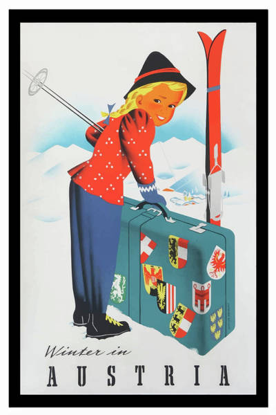 Mixed Media - Vintage Travel Poster Austria by Movie Poster Prints