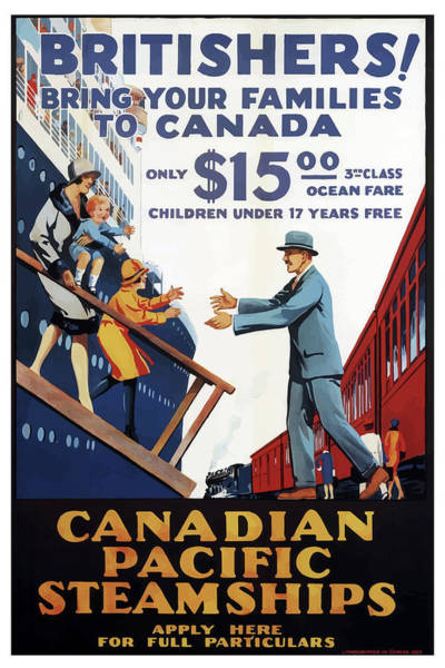 Mixed Media - Vintage Travel Poster Canada Pacific Steamships  by Movie Poster Prints