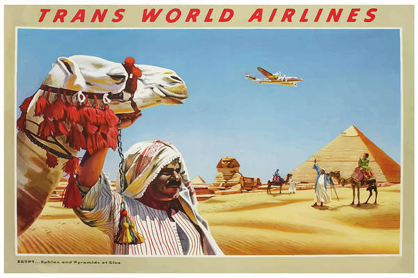Mixed Media - Vintage Travel Poster Egypt 2 by Movie Poster Prints