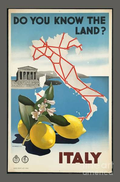 Wall Art - Painting - Vintage Travel Poster - Italy by Esoterica Art Agency